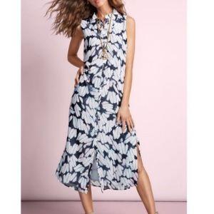 Cabi Printed Maxi Shirt Dress